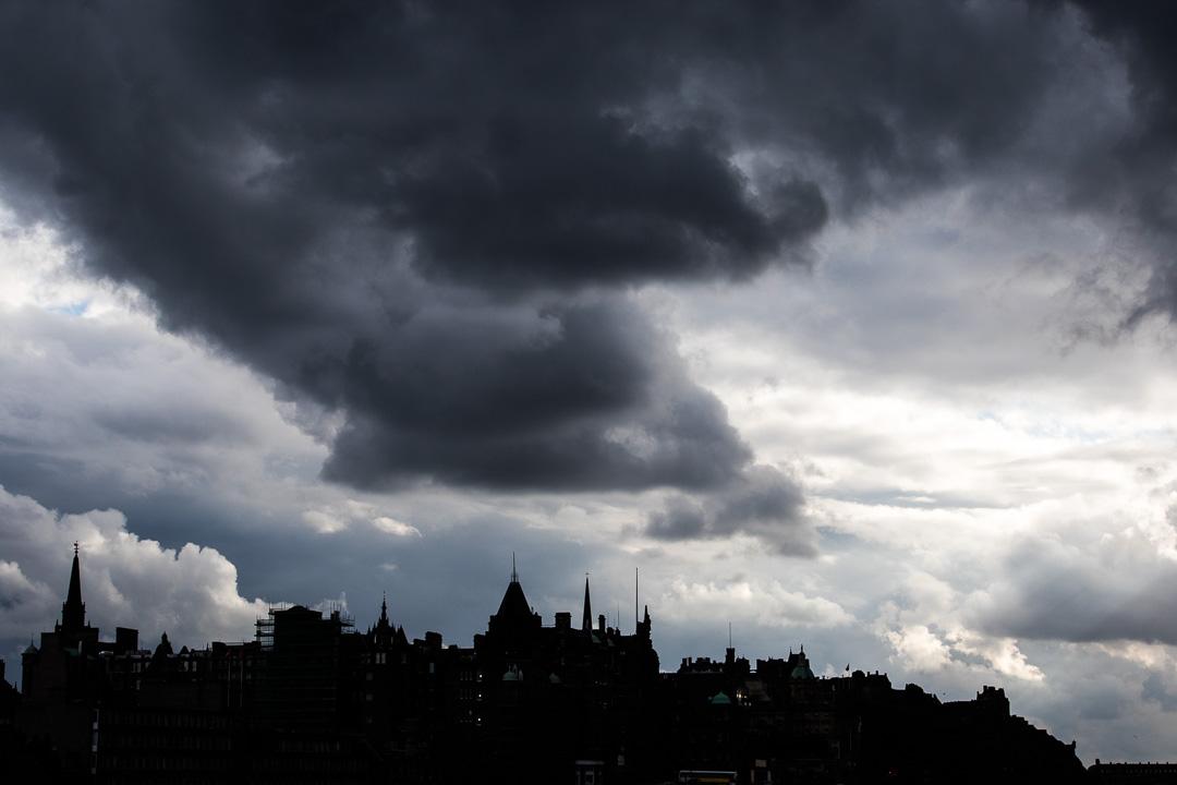 Ciel chargé sur Edimbourg