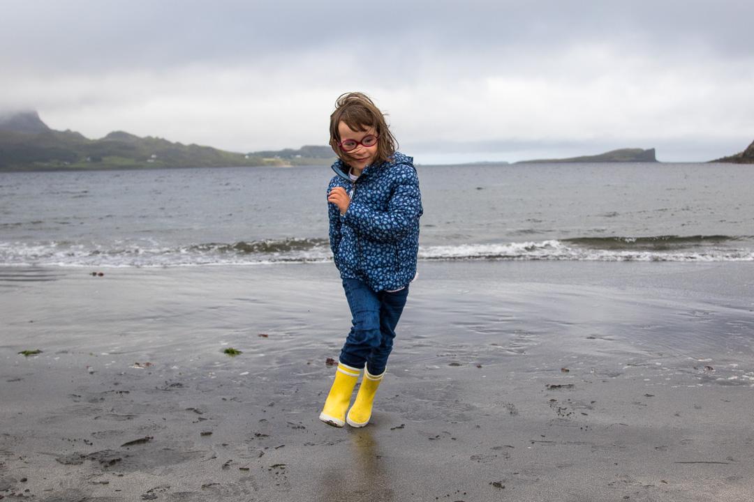 Lucie à la plage
