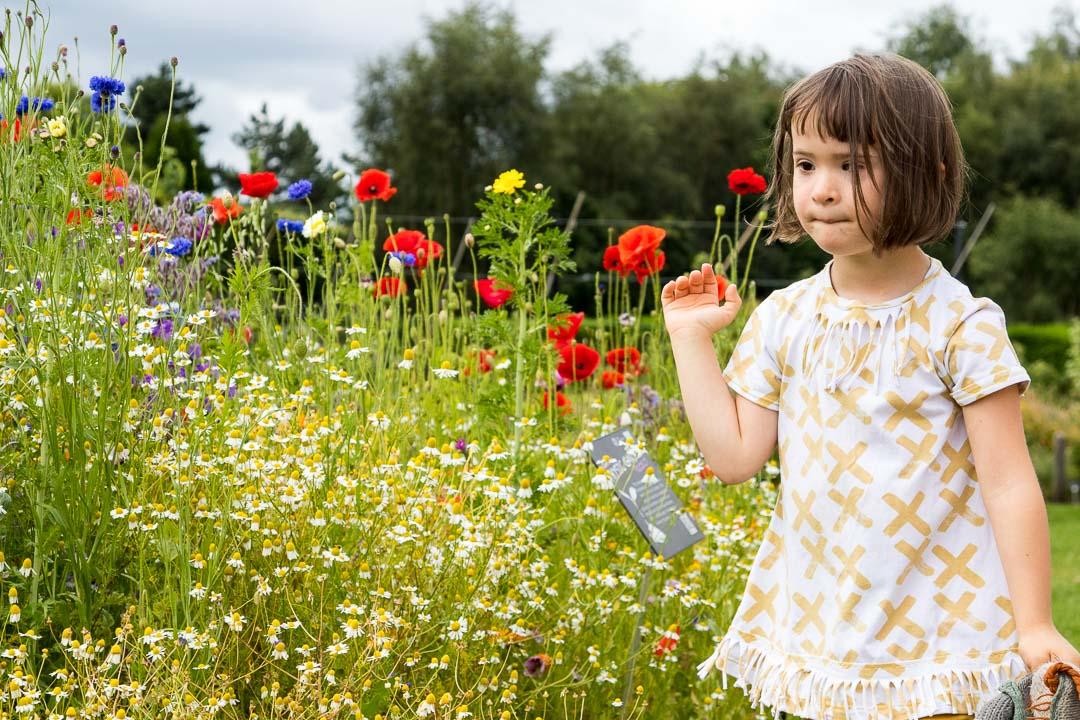 Lucie aime les fleurs