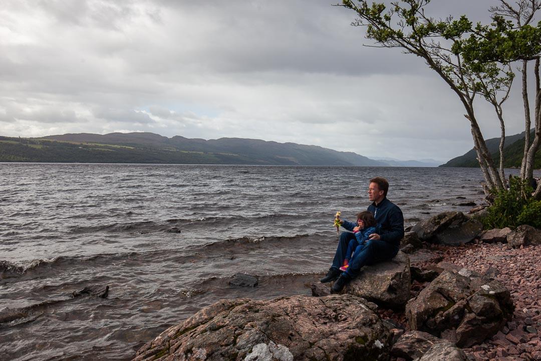 Lucie et Christophe au Loch Ness